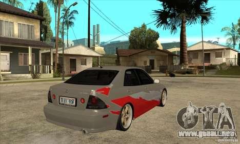 Lexus IS300 Tunable para la visión correcta GTA San Andreas