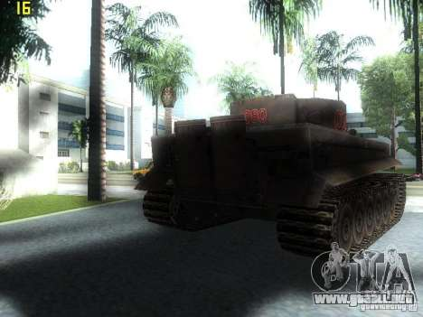 Tiger para GTA San Andreas vista posterior izquierda