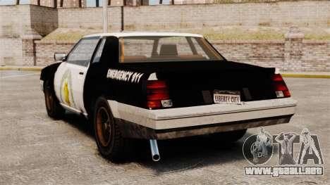 Policía para colorear para un sable oxidado para GTA 4 Vista posterior izquierda