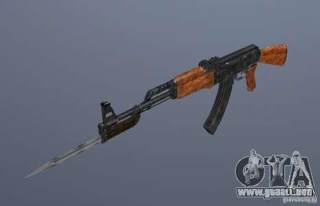 AK 47 con bayoneta para GTA San Andreas