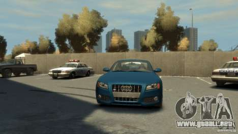 Audi S5 para GTA 4 vista hacia atrás