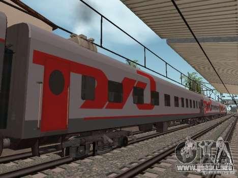 Coche de pasajeros RZD para GTA San Andreas