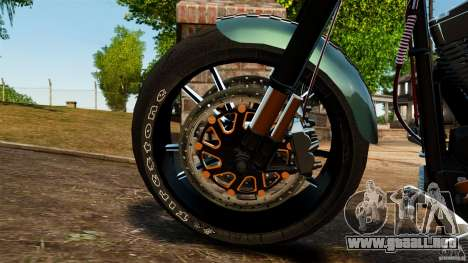 Harley Davidson Fat Boy Lo Racing Bobber para GTA 4 vista interior