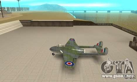 De-Havilland-Vampire ver 2.0 para GTA San Andreas left