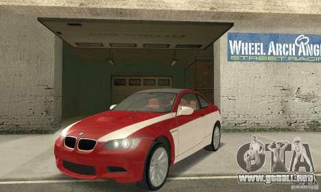 BMW M3 E92 Stock para las ruedas de GTA San Andreas