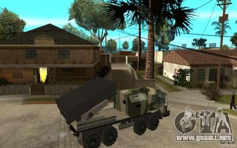 Missile Launcher Truck para la visión correcta GTA San Andreas