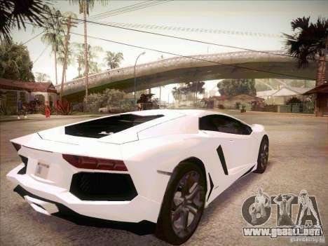 Lamborghini Aventador LP700-4 para GTA San Andreas vista posterior izquierda