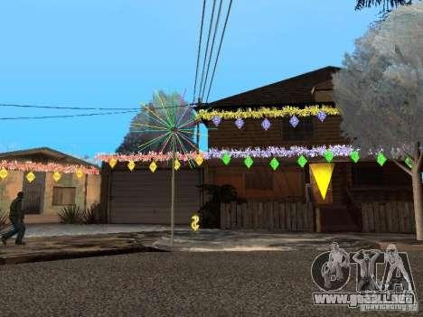 Víspera de año nuevo en la calle Grove para GTA San Andreas segunda pantalla