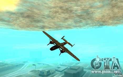 B-25 Mitchell para GTA San Andreas vista posterior izquierda