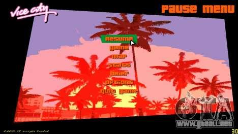 Radar cuadrado para GTA Vice City sucesivamente de pantalla