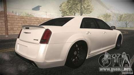 Chrysler 300 SRT8 2012 para visión interna GTA San Andreas