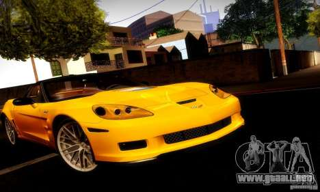 Chevrolet Corvette ZR-1 para vista lateral GTA San Andreas