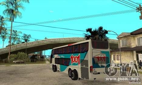 Marcopolo Paradiso 1800 G6 8x2 para GTA San Andreas vista posterior izquierda