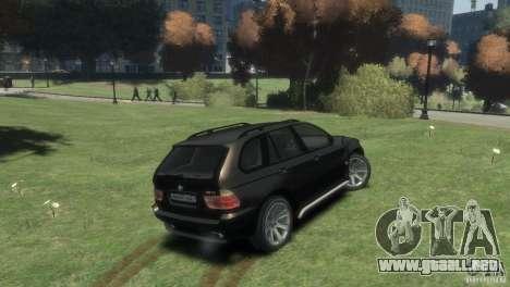 BMW X5 para GTA 4 Vista posterior izquierda