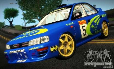 Subaru Impreza 1995 World Rally ChampionShip para GTA San Andreas left
