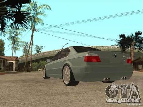 BMW E38 M7 para GTA San Andreas vista posterior izquierda