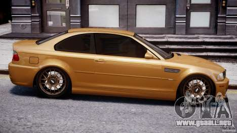 BMW M3 E46 Tuning 2001 v2.0 para GTA 4 vista lateral