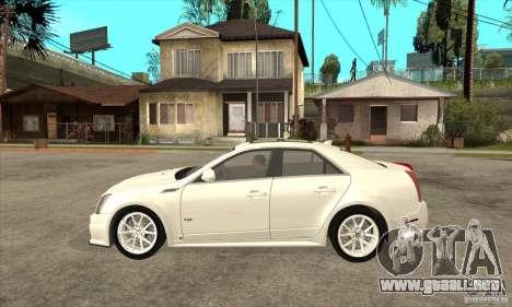 Cadillac CTS-V 2009 v2.0 para GTA San Andreas left