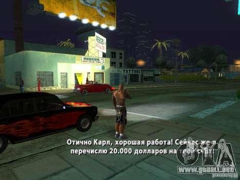 Killer Mod para GTA San Andreas octavo de pantalla