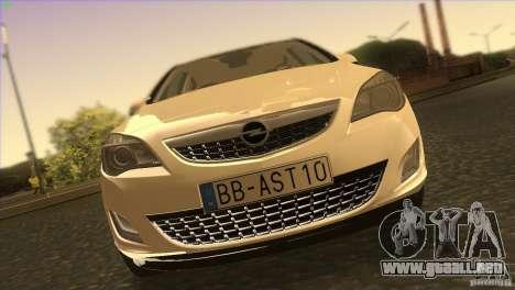 Opel Astra 2010 para la vista superior GTA San Andreas