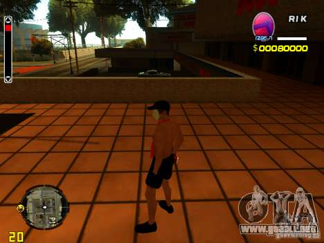 Hombre piel playa para GTA San Andreas tercera pantalla