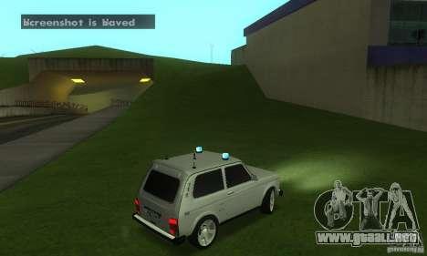 FBI NIVA VAZ 21213 para la visión correcta GTA San Andreas