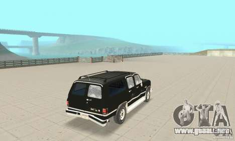 Chevrolet Suburban FBI 1986 para la vista superior GTA San Andreas