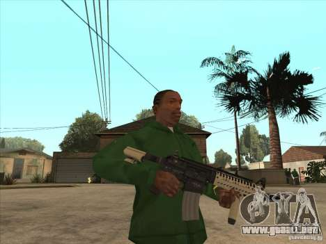 M4 de Call of Duty para GTA San Andreas segunda pantalla