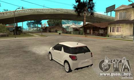 Citroen DS3 2010 para GTA San Andreas vista posterior izquierda