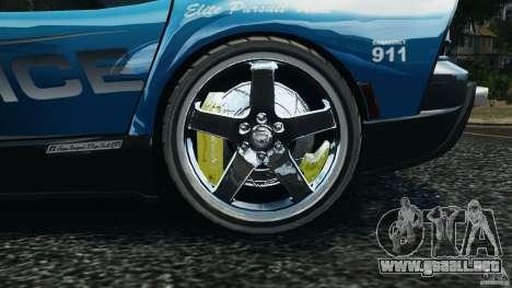 Dodge Viper SRT-10 ACR ELITE POLICE [ELS] para GTA 4 vista hacia atrás