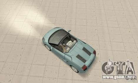 Lamborghini Gallardo Spyder para GTA San Andreas vista posterior izquierda