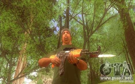 Kalashnikov HD para GTA San Andreas sucesivamente de pantalla