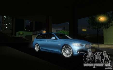 BMW F11 530d Touring para GTA San Andreas vista hacia atrás
