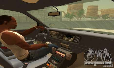 Ford Crown Victoria South Carolina Police para GTA San Andreas vista posterior izquierda
