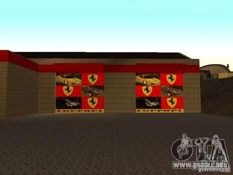 El garaje de Ferrari en Dorothy para GTA San Andreas segunda pantalla