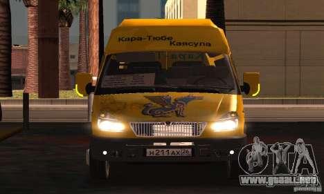 Minibús Gazelle 2705 para visión interna GTA San Andreas