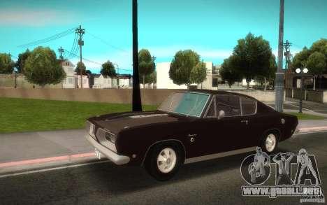 Plymouth Barracuda Formula S para GTA San Andreas vista posterior izquierda