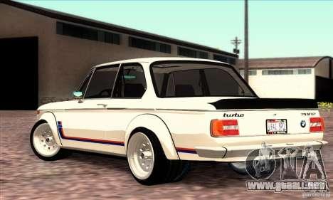 BMW 2002 Turbo para GTA San Andreas left
