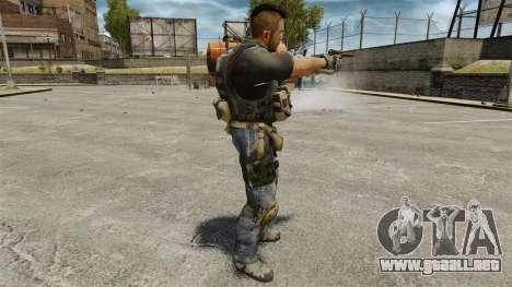 El capitán John «4» Mctavish para GTA 4 adelante de pantalla