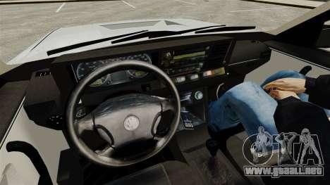 Volkswagen Santana Shanghai Century Rookie para GTA 4 vista interior