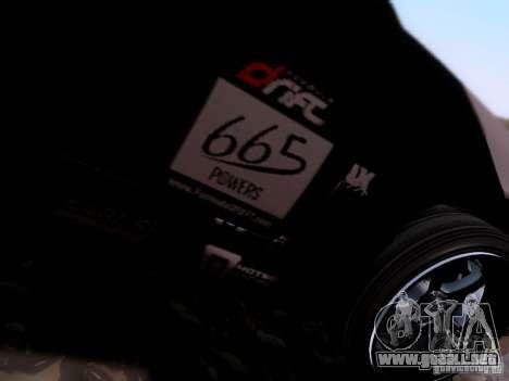 Nissan Silvia S14 Matt Powers v4 2012 para GTA San Andreas vista hacia atrás