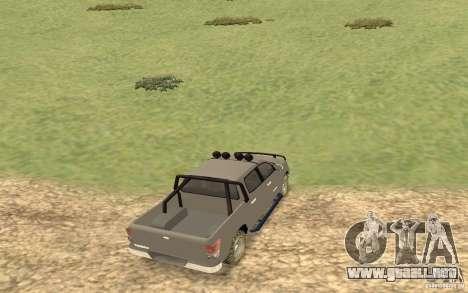 Toyota Tundra 4x4 para GTA San Andreas vista posterior izquierda