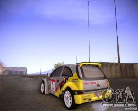 Opel Corsa Super 1600 para GTA San Andreas vista hacia atrás