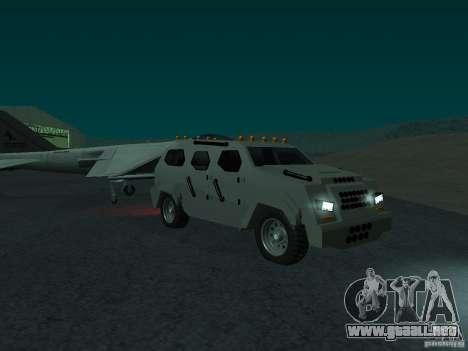 FBI Truck from Fast Five para la visión correcta GTA San Andreas