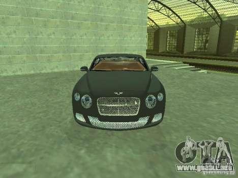 Bentley Continental GT 2010 V1.0 para GTA San Andreas vista hacia atrás