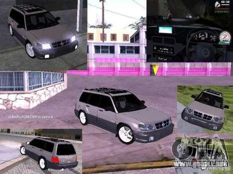 Subaru Forester 1997 año para visión interna GTA San Andreas