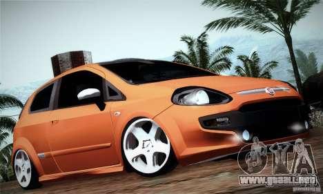 Fiat Punto Evo 2010 Edit para GTA San Andreas vista posterior izquierda