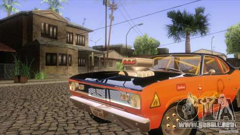 Plymouth Duster 440 para vista inferior GTA San Andreas