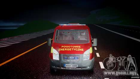 Ford Transit Polski uslugi elektryczne [ELS] para GTA 4 vista lateral
