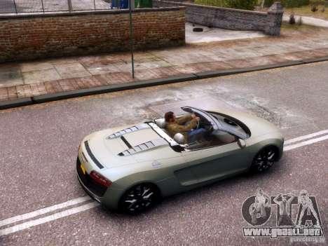 Audi R8 Spyder 5.2 FSI quattro V4 EPM para GTA 4 vista interior
